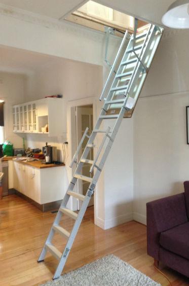 Ultimate series Aluminum Attic ladders 2.4-3.75m